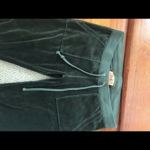 Juicy couture velour olive green